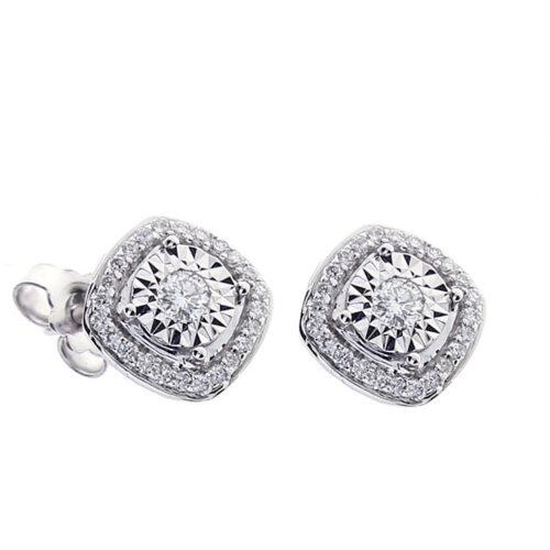 Orecchini Bliss Donna 20087977 della collezione Rugiada. Orecchini in oro bianco 18 carati con diamanti taglio brillante di 0,36 carati.